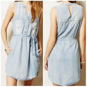 Holding Horses Ballard  Chambray Shirt Dress